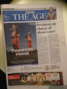 WBBL Front page The Age